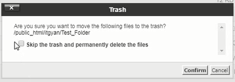 Delete Folder Confirmation