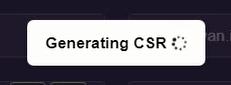 Generating CSR