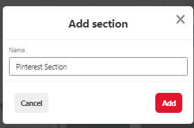 create Section
