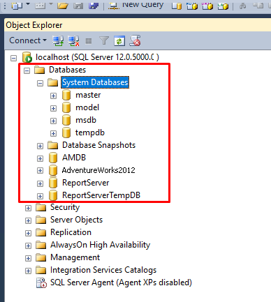 SQL Server database list